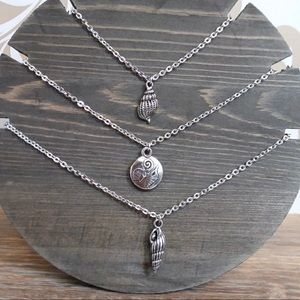 Silver Tone Seashell Necklaces NWT 16 inch